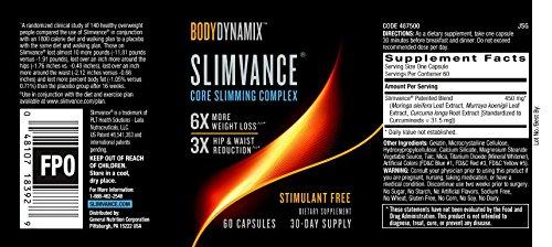 BodyDynamix Slimvance Core Slimming Complex Stimulant Free, 30 Day Supply by SLIMVANCE (Image #3)