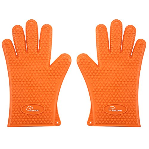 SUPCOOKI Silicone Gloves Waterproof Resist