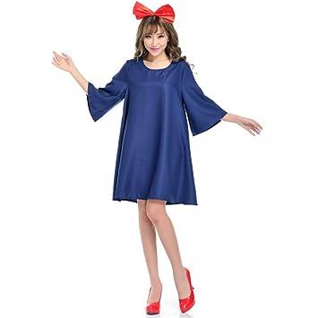 Vestido de cosplay casa de bruja, disfraz de Halloween,azul real,M ...