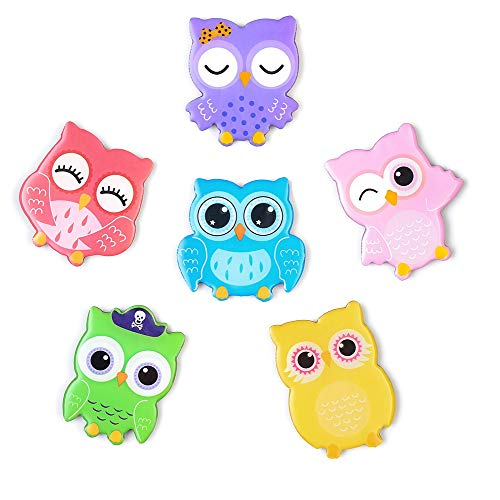 6-Pack Fridge Magnets for Kids Adults Refrigerator Magnets Cute Owl Ornament Funny Decor for Kitchen Office Classroom Whiteboard Lockers, Magnet Set Ideal Gift by Morcart (6pcs-Owl) (Kitchen Owl Decor Colorful)