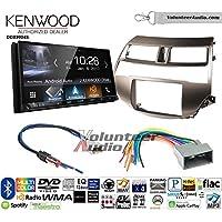 Volunteer Audio Kenwood DDX9904S Double Din Radio Install Kit with Apple CarPlay Android Auto Bluetooth Fits 2008-2012 Honda Accord (Gun Metallic Taupe)