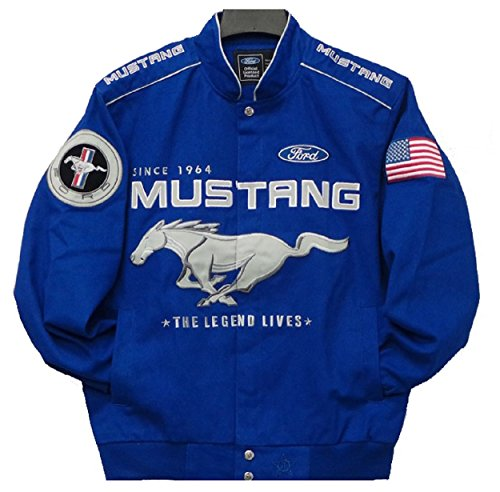 Mustang Racing Cotton Jacket JH Design Size Medium (Ford Cotton Jacket Mustang Racing)