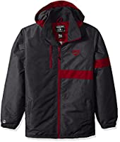 Ouray Sportswear Adult Men's Raider Jacket, Carbon Print/Scarlet, Large