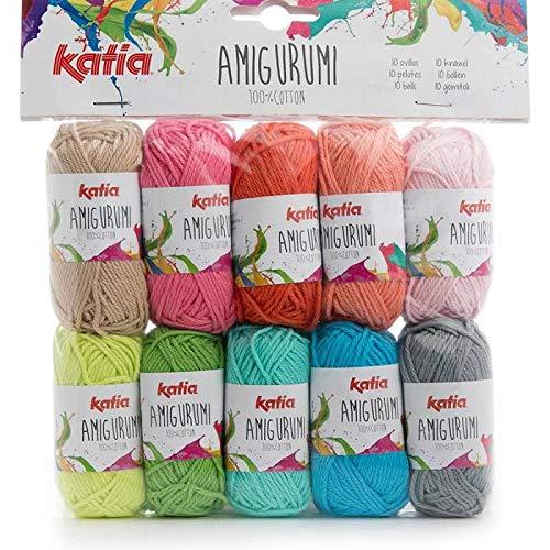 Katia Cotton Yarn: Amigurumi 100%, Multicolor, 100% Cotton, 10 grs. / 1/3 oz 33 MTS. / 36 yds. (S03)