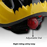 Kids-Yellow-black-Bicycle-Bike-Cycling-Helmets-Tail-Warning-Light-Protective-Gear-for-Toddler-Child-Children-KidsUltra-light-Outdoor-Kids-Safety-Helmet-for-Boy-Girl-Student-Pupil-Age-3-5-5-7-8-10