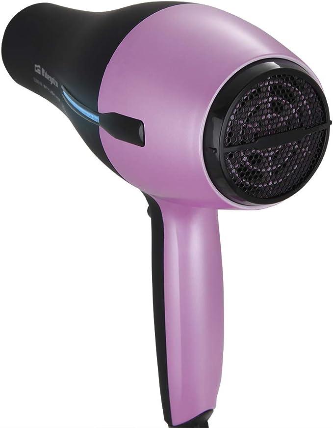 Orbegozo SE 2320 - Secador de pelo, 3 niveles de temperatura, 2 velocidades, pulsador aire frío, filtro extraíble, difusor y concentrador, 2200 W