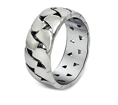 Blisfille Anillo Rock and Roll Anillos Pareja Compromiso ...