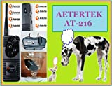Aetertek AT-216 550 Meter Remote Control Waterproof Dog Training Collar with Beep Correction, 7 Levels of Vibration and 7 Shock Levels