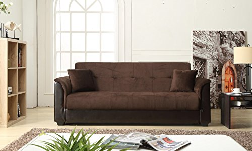 Chocolate Melanie - NHI Express 72016-06CH Melanie Champion Sofa Futon Bed, Chocolate,