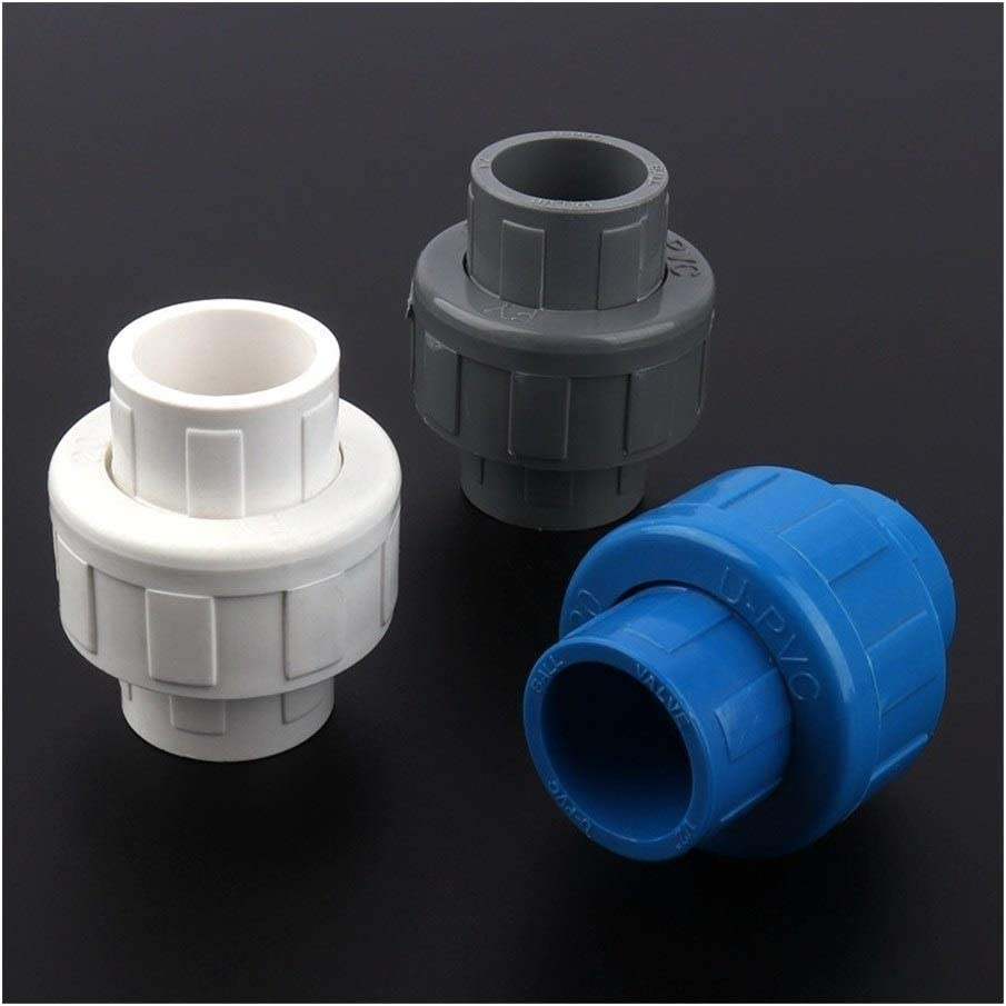 Color : Blue Union Joint, Diameter : 48pcs 20mm PVC Union Connector Aquarium Tank Tube Adapter Garden Water Connectors Irrigation Water Supply Pipe Joints 12//24//48pcs Inner Dia