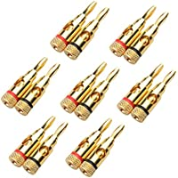Cable Matters 7 Pairs, Open Screw Banana Plugs for Speaker Cable