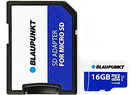 Blaupunkt - Tarjeta microSD con Adaptador SD (16 GB): Amazon ...