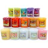 Yankee Candle Bougie parfumée Yankee Candle–15x votives parfumées de Notre Gamme De Parfums