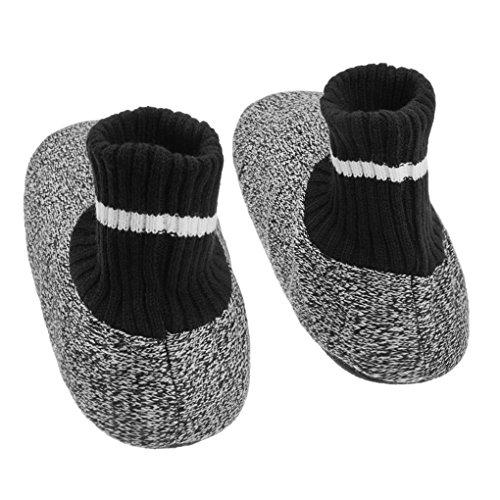 f26ec8d0d17ed9 ... Hommes Hiver Épais Thermique Pantoufles En Tricot Chaussettes Maison  Intérieur Chaussons Chaussures Noir Et Blanc ...
