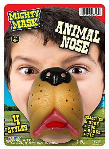 Ja-Ru Mighty Mask Animal Nose Party Favor Bundle (4 Pack)