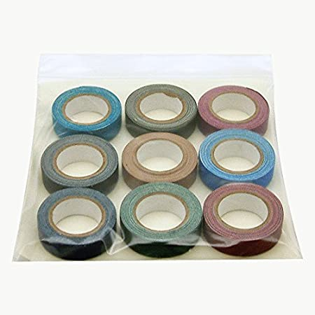 JVCC Mini-Spike-Pack Mini Spike Tape Multi-Pack: 1//2 in // Assorted Fluorescent Green, Fl. Orange, Fl. Pink, Fl. Yellow, Brown, Grey, Red, White, Yellow x 6 ft 9 Rolls//Pack
