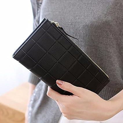 La versión coreana del entramado grueso con cremallera doble embrague de mujeres de moda bolso bolso