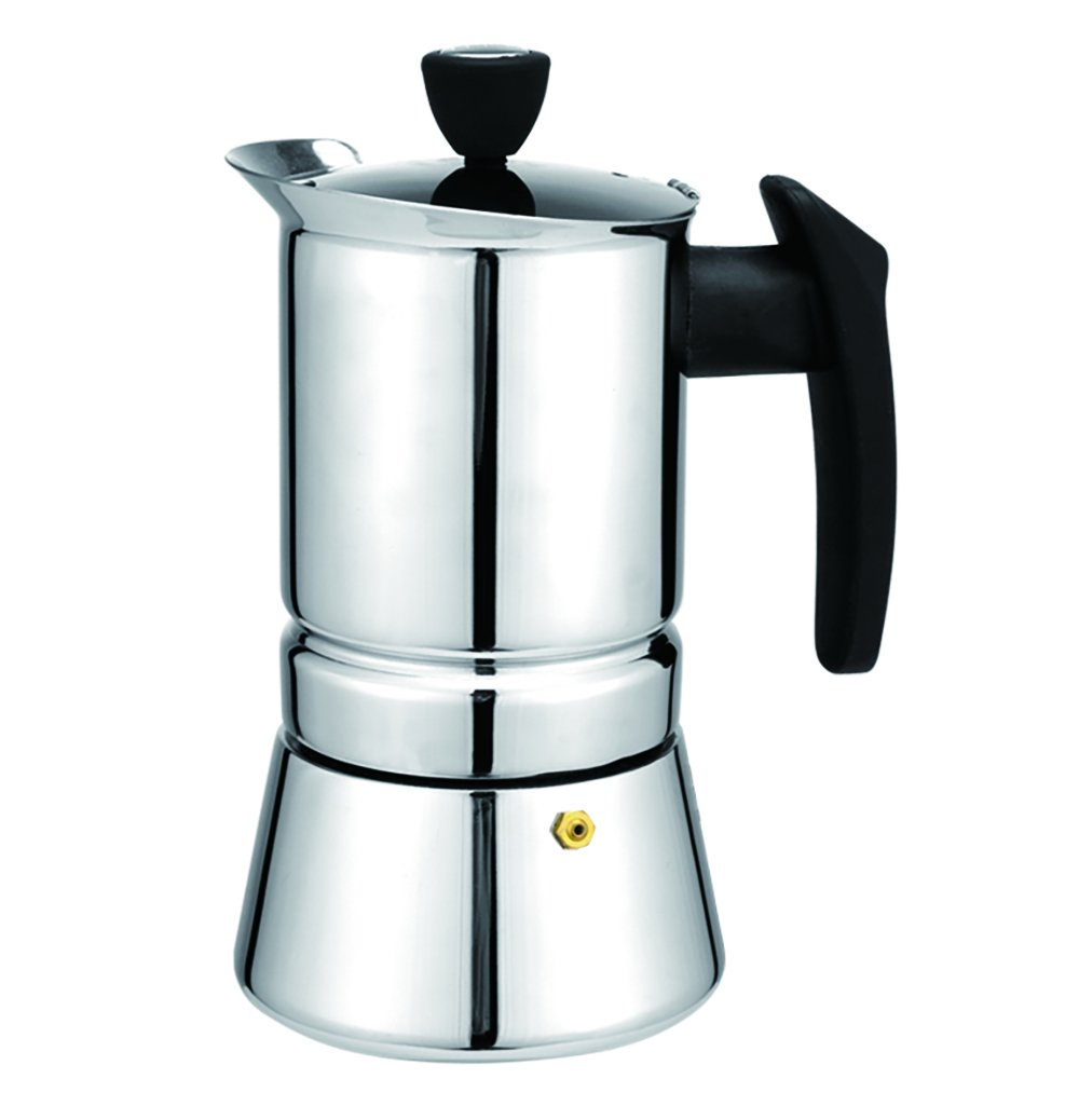 Tritrusten Moka Maker Espresso Coffee Maker Stainless Steel Induction (6 cup)
