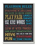 The Kids Room by Stupell Rainbow Chalkboard Playroom Rules Rectangle Wall Plaque, 11 x 0.5 x 15, Proudly Made in USA