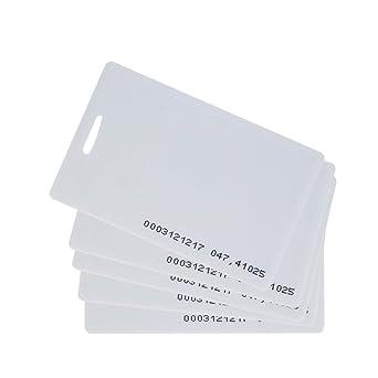 HFeng Tarjeta en blanco densa de 125KHz RFID 1.8mm blanco Tarjeta ...