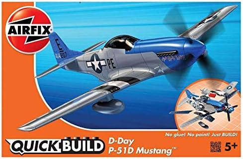 WW2 Model Kit Plane Fighter Jet P-51D Mustang Airplane Brick Building