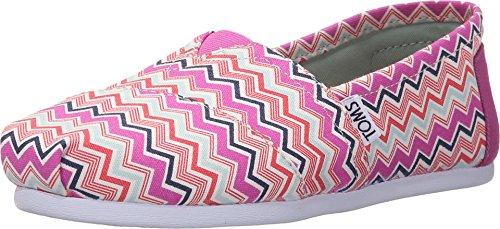 TOMS Women's Seasonal Classics Pink Canvas Chevron Loafer 6.5 B (M)]()