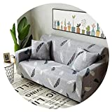 Stretch Sofa Cover Elastic funda Sofa Cubre Sofa L-Shape Armchairs Sectional Cover Sofa Towel Couch Cover Furniture Protector,Color 23,4-Seater 235-300cm
