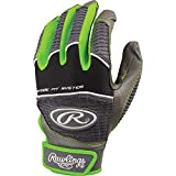 Rawlings WORK950BG-GR-89Batting Glove Green Medium