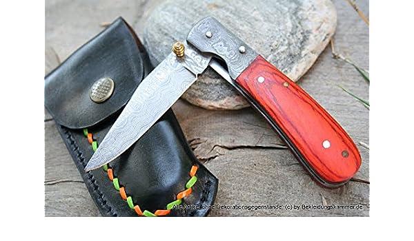 Cuchillo de Damasco cuchillo plegable con una sola mano ...