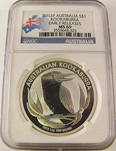 2012 AU Australia Kookaburro Early Release $1 MS69 NGC
