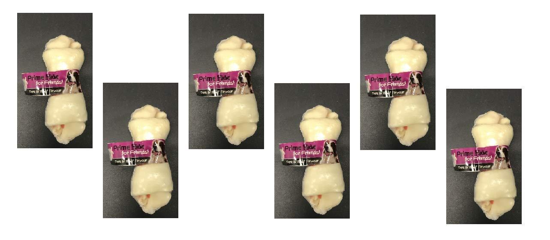 Prime Hide for Friends Pork /& Beef Flavour Medium Dog Chew Bones 6x 125g Bones