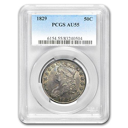 1829 Capped Bust Half Dollar AU-55 PCGS Half Dollar AU-55 PCGS