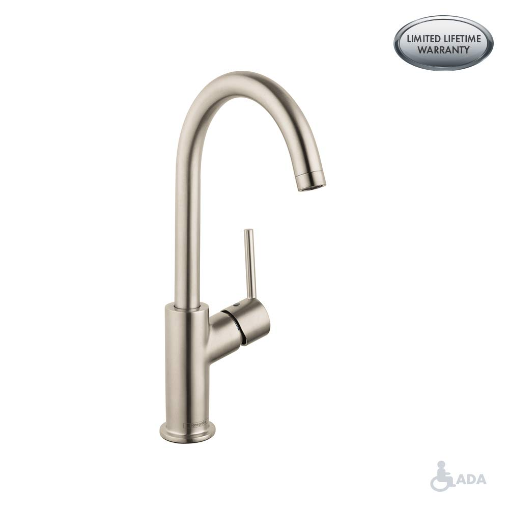 Hansgrohe 32082821 Talis S Single Hole Faucet, Brushed Nickel