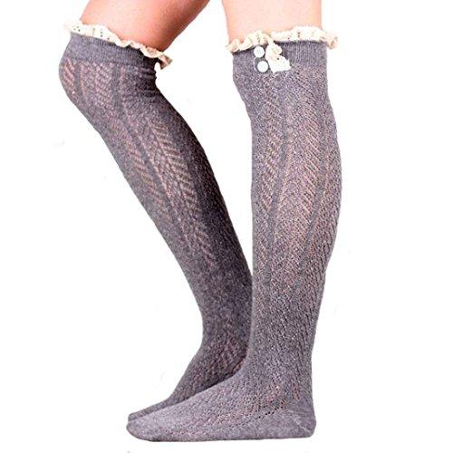 Medias De Invierno Para Mujer, Egmy Newest Mujer Socks Medias De Tubo Recto Set Dark Grey