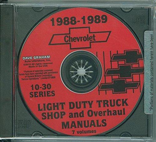 1988 1989 CHEVROLET 10-30 PICKUP & LIGHT TRUCK REPAIR SHOP & SERVICE MANUAL CD Pick-up, Blazer, Suburban, Vans