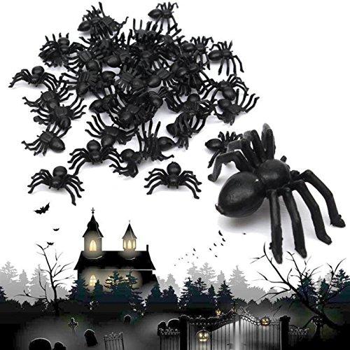 Best Plastic Black Widow Spider Halloween Decorations For Kid - Scary Halloween Decor - 2 x 1.4 cm]()