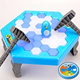 Penguin Ice Cubes Mini Table Game for Kids Balance Ice Puzzle Save Penguin Icebreaker Beating Interactive Games
