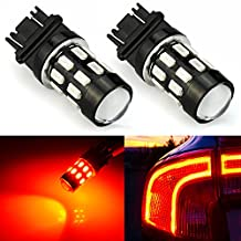JDM ASTAR Super Bright 5730 Chipsets 3056 3156 3057 3157 LED Bulbs with Projector,Brilliant Red
