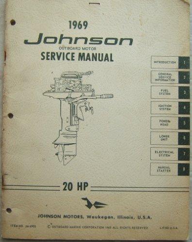 1969 johnson outboard motor service manual 20 hp paperback – 1969