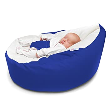 Pleasing Rucomfy Luxury Cuddle Soft Gaga Baby Bean Bag Royal Blue Machost Co Dining Chair Design Ideas Machostcouk
