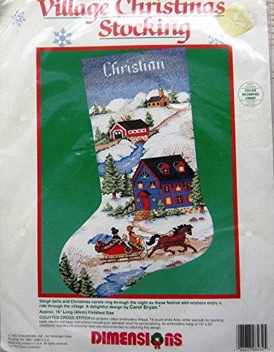 Stitch Kit Village Christmas Stocking 16