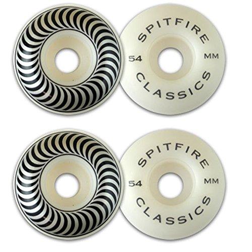 Spitfire Wheels Classics White / Black Skateboard Wheels - 5