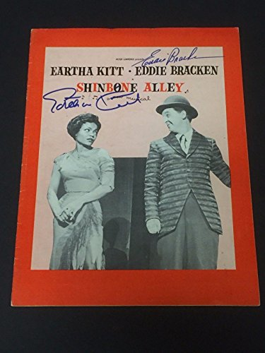 Eartha Kitt Eddie Bracken Shinebone Alley Signed Autograph Photo Program