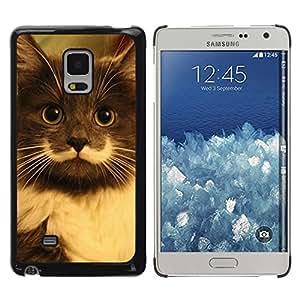 TopCaseStore / la caja del caucho duro de la cubierta de protección de la piel - Hamilton Hipster Cat Moustache Longhair - Samsung Galaxy Mega 5.8 9150 9152
