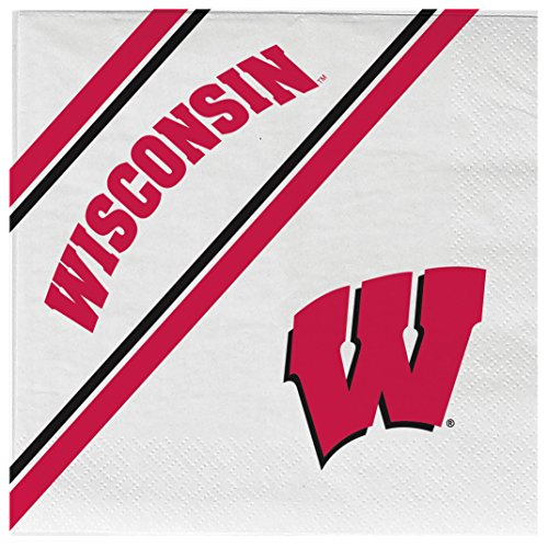 (NCAA Wisconsin Badgers Disposable Paper Napkins, Pack of 20)