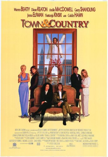 Town and Country Movie Poster (27 x 40 Inches - 69cm x 102cm) (2001) -(Warren Beatty)(Diane Keaton)(Goldie Hawn)(Andie MacDowell)(Jenna Elfman)(Garry Shandling)