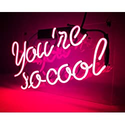 KUKUU Neon Sign Decor You Are So Cool for Beer Bar Bedroom Garage Game Room 12x 9.8 (Pink)