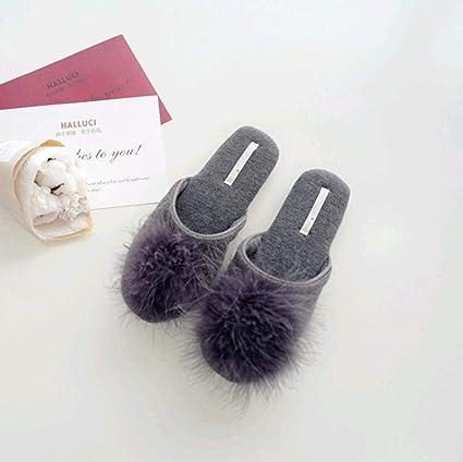 Cheaper immagini dettagliate qualità SED Pantofole da donna Casa casual, Suola in gomma piuma scura ...