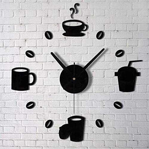 Vanessa Gay Coffee Cups Kitchen Wall Art Mirror Clock