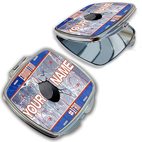 (BRGiftShop Customize Your Own Hockey Team Edmonton Compact Pocket Cosmetic Mirror)